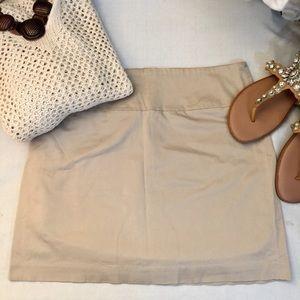 """Banana Republic"" tan stretch cotton mini skirt-12"